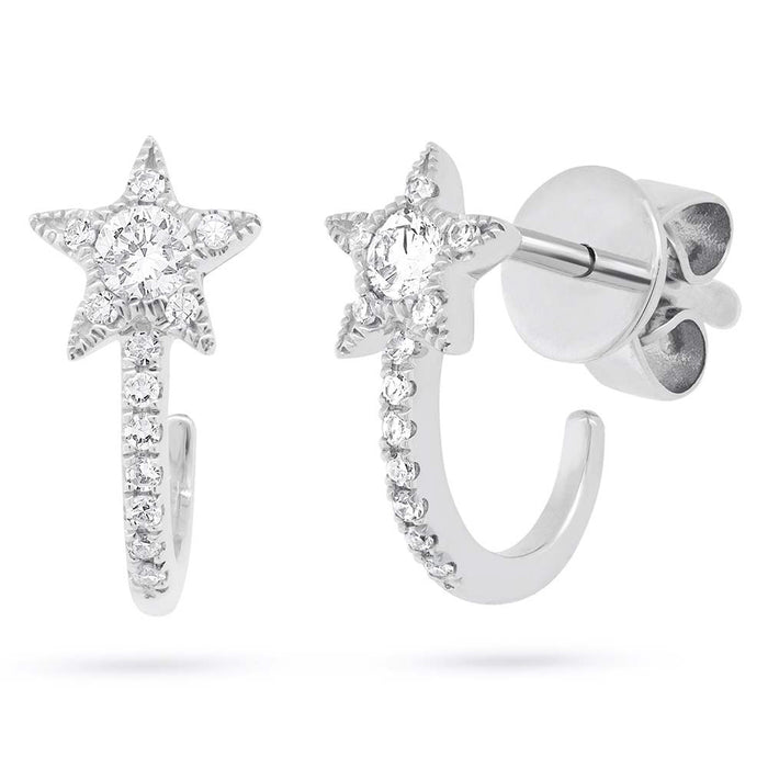 Star Hoops - Pasha Fine Jewelry