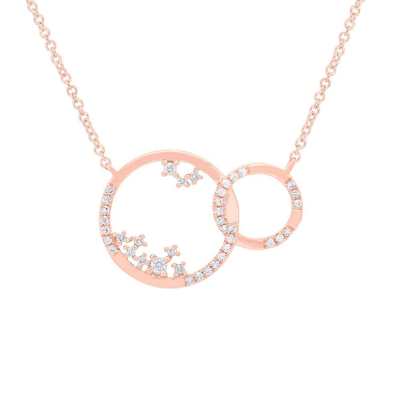 Double Circle Necklace - Pasha Fine Jewelry