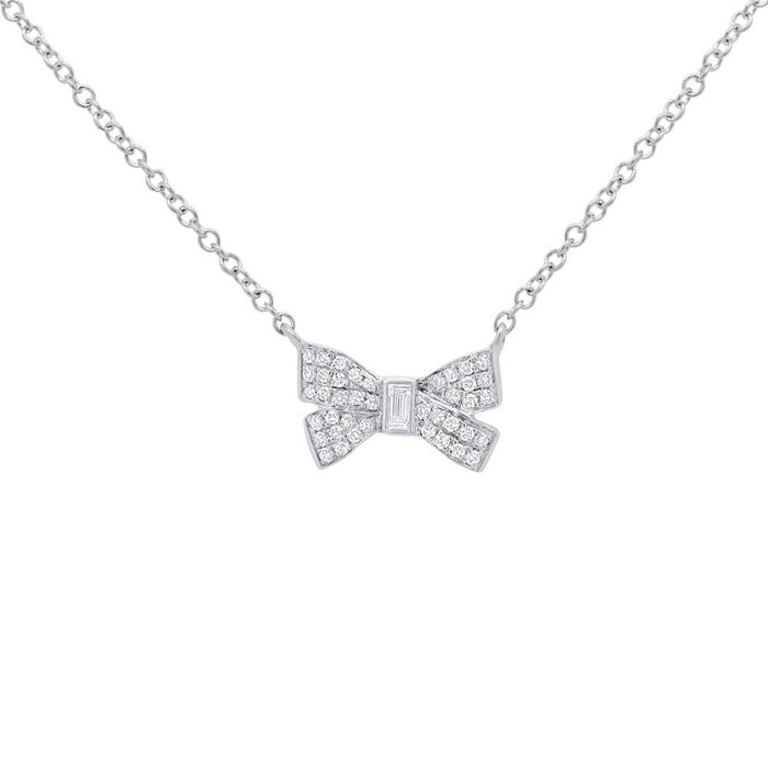Bow Necklace - Pasha Fine Jewelry