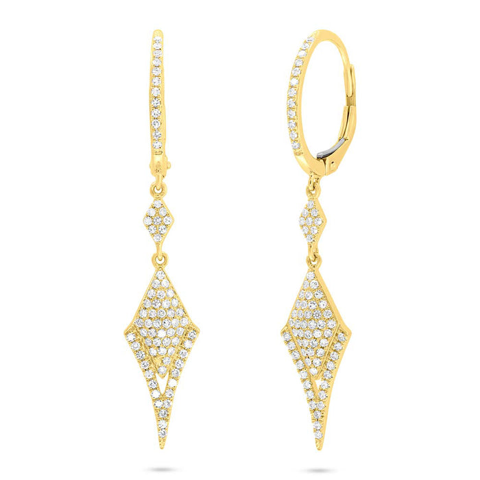 Pave Earrings - Pasha Fine Jewelry