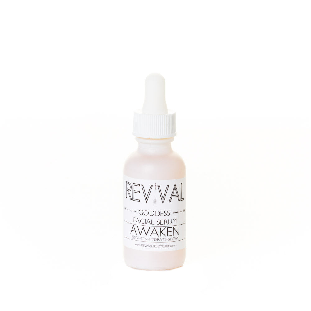 Revival Bodycare Goddess Awaken Serum - Facial Oil made with Rose Hip Oil,  Pomegranate Seed Oil,  Vitamin C,  Coffee Bean Essential Oil,  Sweet Orange Essential Oil