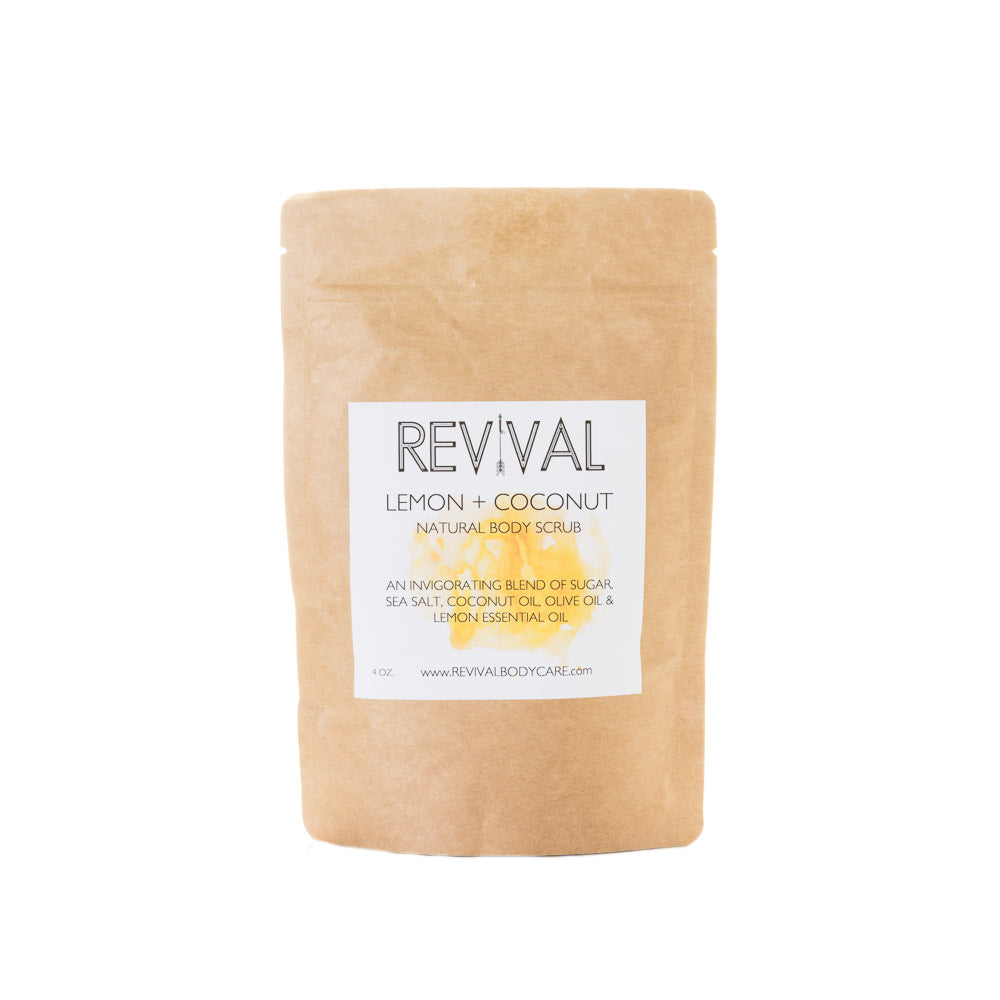 Revival Bodycare Body scrub - Lemon + Coconut Body Scrub