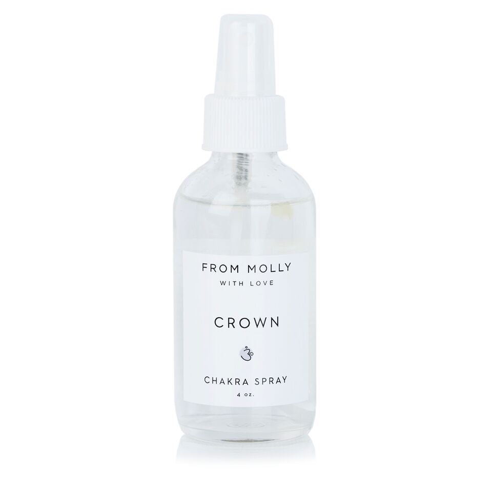 From Molly WIth Love Crown Chakra Spray.  Spray for yoga, meditation, or body with Lavender, Jasmine, Ylang Ylang.