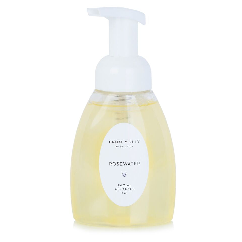 From Molly With Love Rosewater Facial Cleanser.  Facial cleanser made with rosewater and a touch of coconut oil.