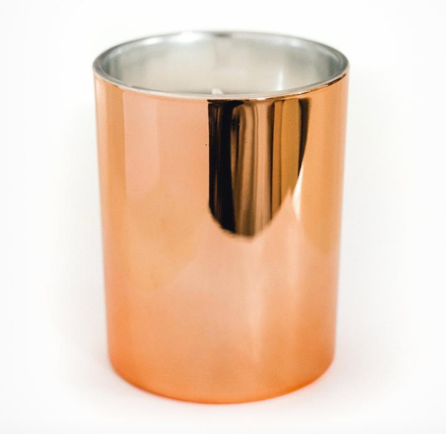 Cedar and Vanilla Rose Gold Soy Candle
