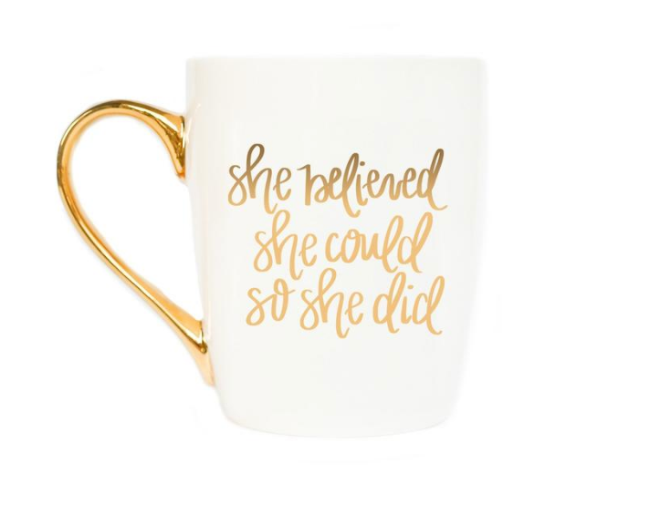 She Believed She Could Coffee Mug