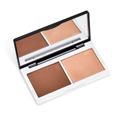 Lily Lolo Cosmetics Sculpt and Glow Contour Duo.  Vegan mineral pressed bronzer and highlighter duo compact.