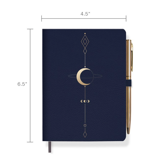 Moon Tattoo Journal with Slim Gold Pen