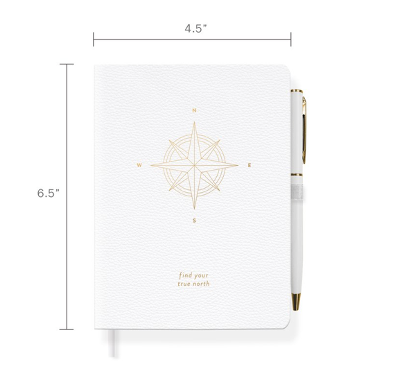 Compass Journal with Slim Gold Pen