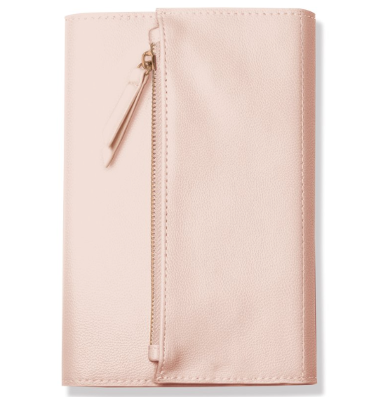 Fringe Studio Blush Clutch Journal.  Journal in a clutch style purse. Vegan Leather.