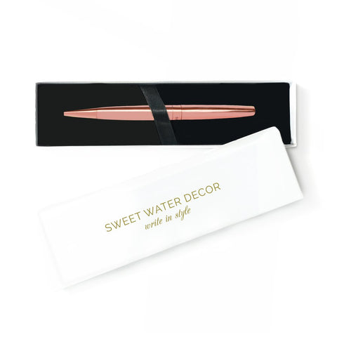 Chic Rose Gold Pen