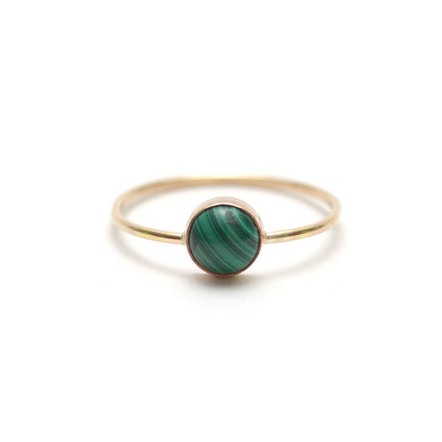 Gumdrop Malachite Ring