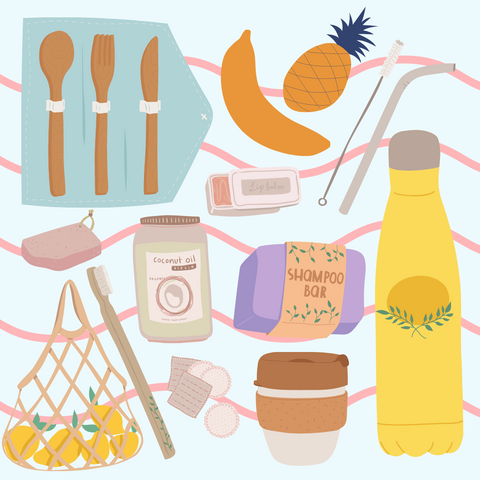 image of plastic free products - tide and seek