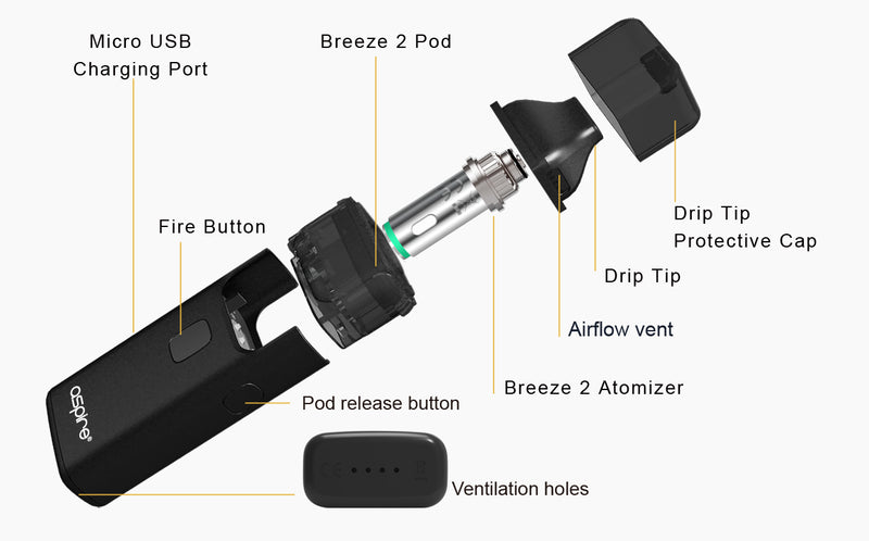 Aspire Breeze 2 Kit POD - Vapor Club Peru