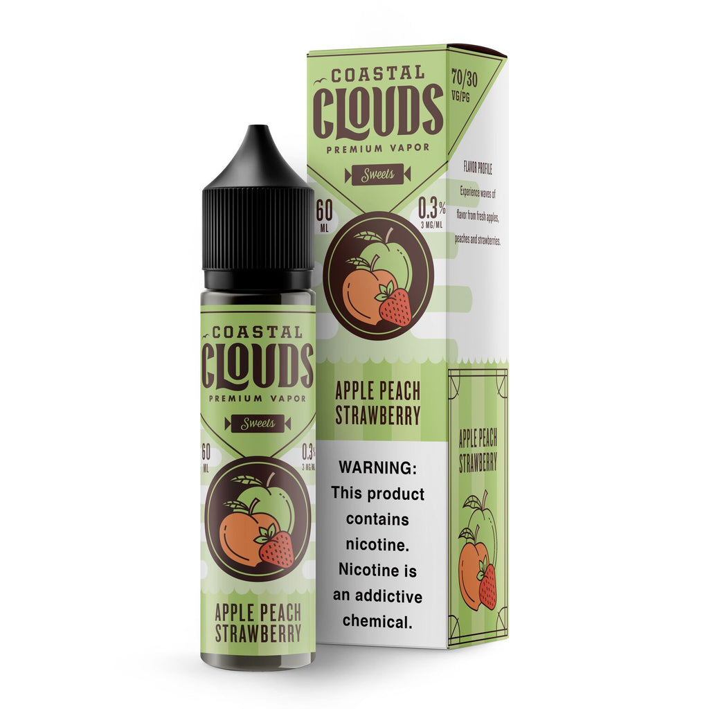 Coastal Clouds Apple Peach Stawberry 60ml