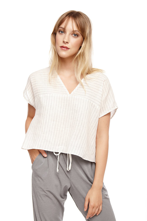 Crop top Brigit Rayé