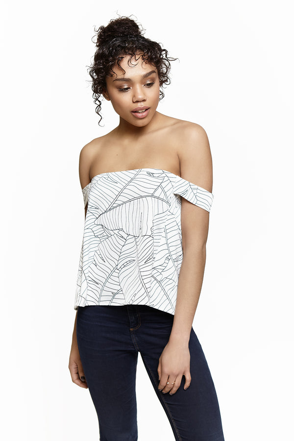 Crop Top Blum Feuilles