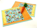 Bunnies in the Garden Placemats Kit