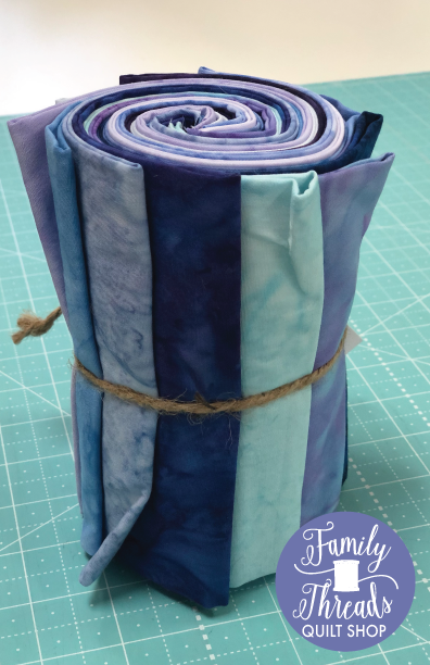 Fat Quarter Blue/Purple Fabric Bundle