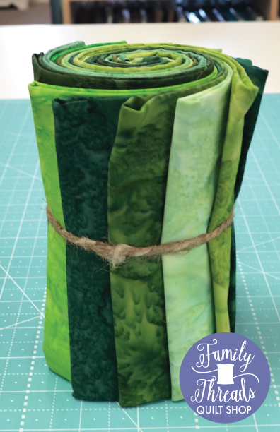 Fat Quarter Green Fabric Bundle