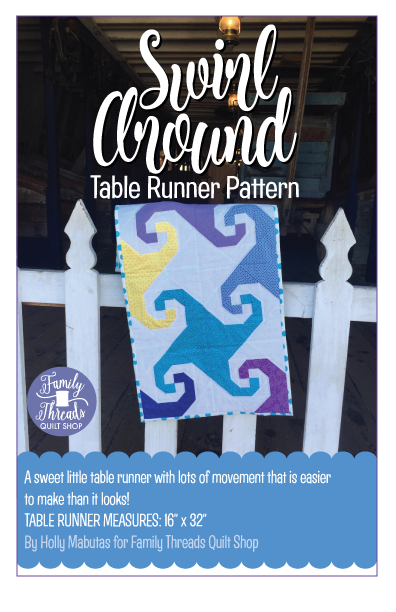 Swirl Around Table Runner Pattern