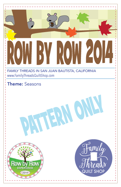 Row by Row 2014 Pattern
