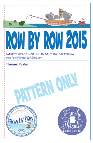 Row by Row 2015 Pattern