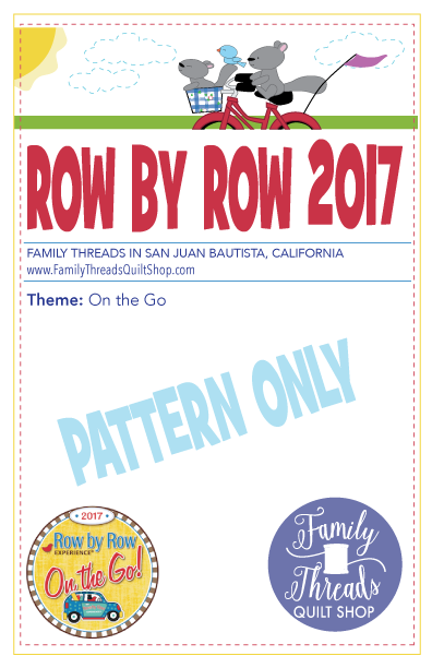 Row by Row 2017 Pattern