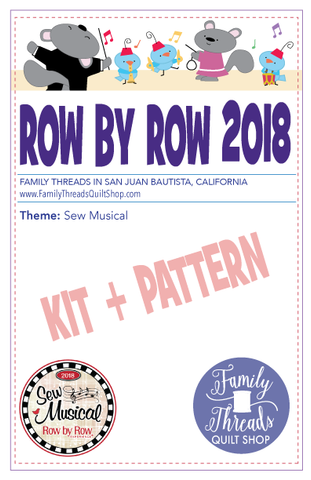 Row by Row 2018 Pattern + KIT