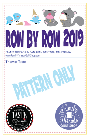 Row by Row 2019 Pattern