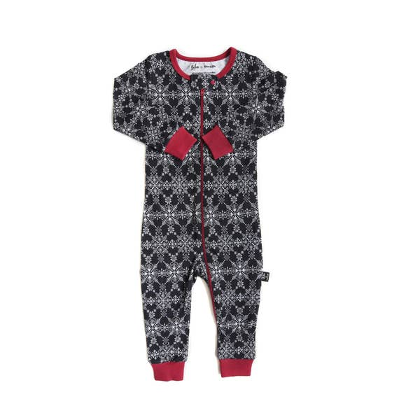 Tiny Trendsetter - (Lola & Taylor) - Winter Wonderland Infant Romper