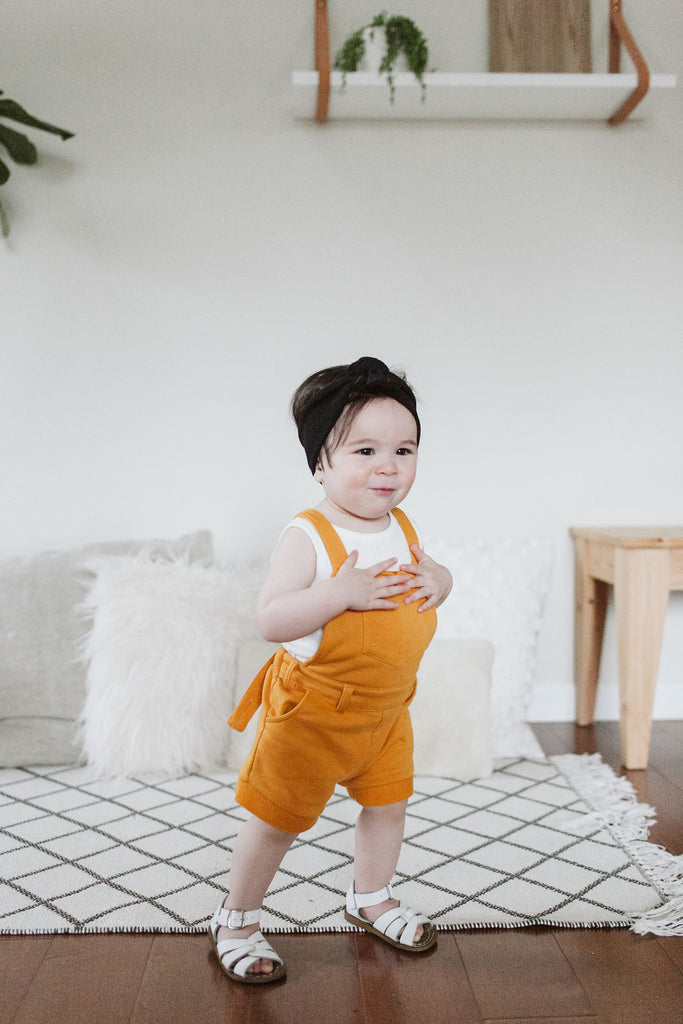 Orcas Lucille - Short Overalls - Goldenrod