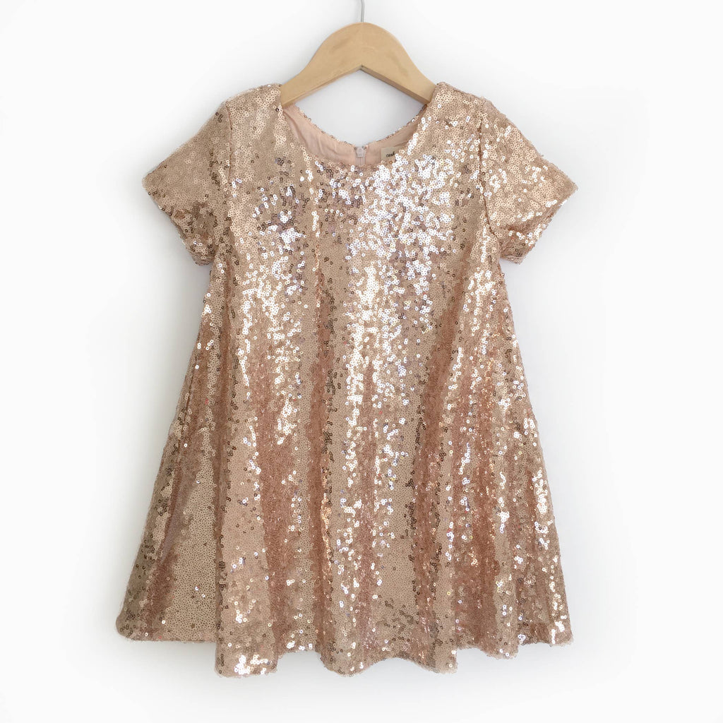 Carken Design - Rose Gold Sequin Dress - Short Sleeves