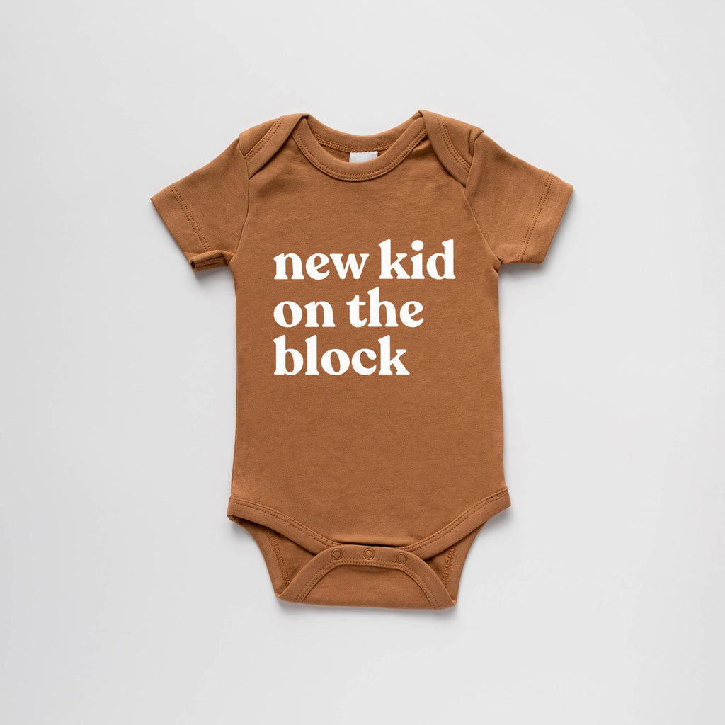 The Oyster's Pearl - Camel Organic New Kid on the Block Bodysuit
