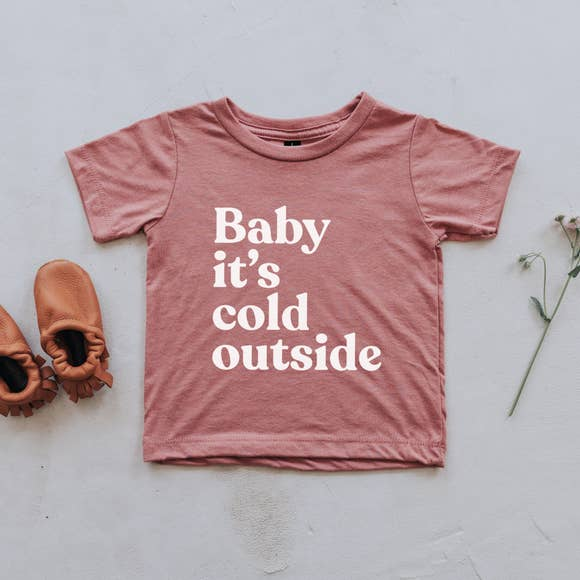 The Oyster's Pearl - Mauve Baby It's Cold Outside Kids Tee