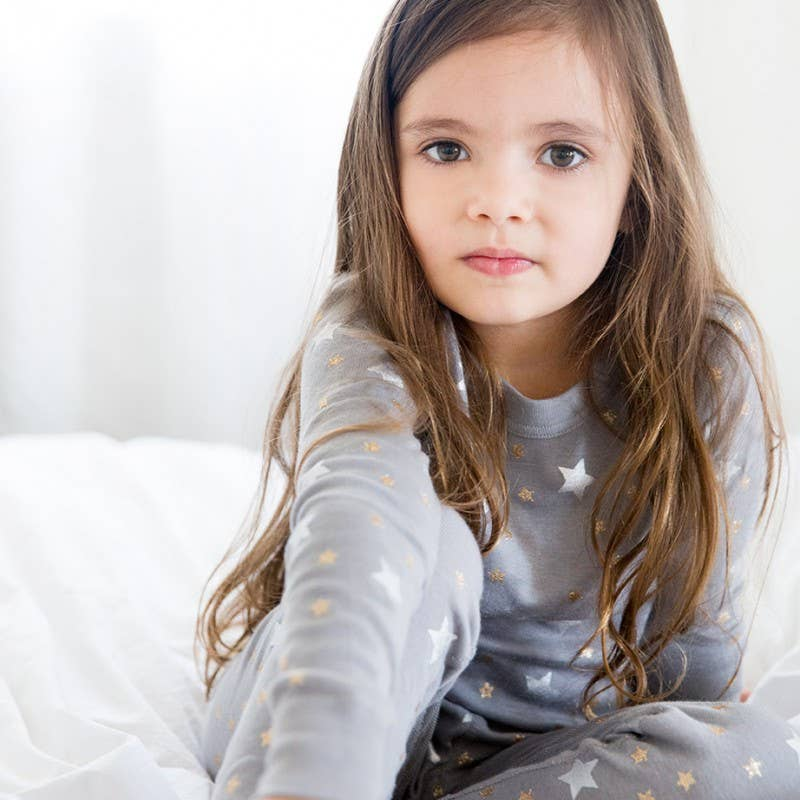 Skylar Luna- Grey Stars Long Sleeve Pajamas
