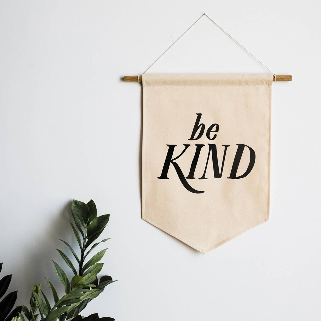 The Oyster's Pearl - Be Kind Canvas Banner