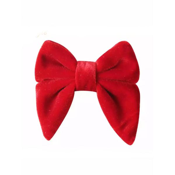 "Tiny Trendsetter - Tiny Red Velvet 3"" Bow Hair Clip"