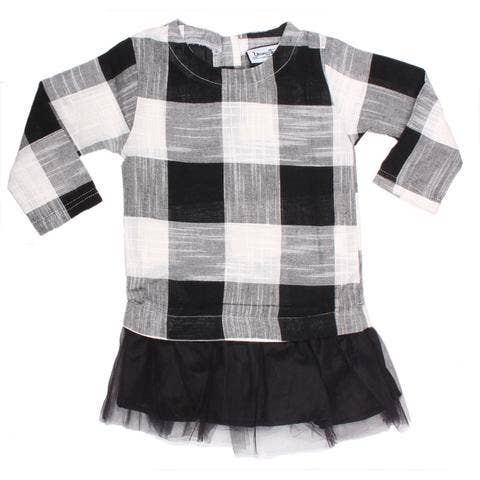 Young and Free Apparel - Tunic Dress - Black Plaid
