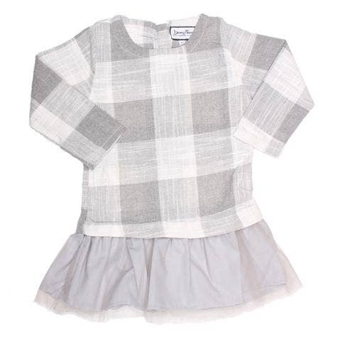 Young and Free Apparel - Tunic Dress - Grey Plaid