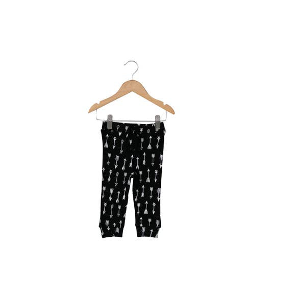 Modern Burlap - Baby + Child Organic Faux Drawstring Pant | Arrows