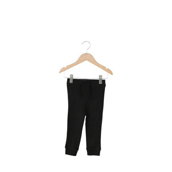 Modern Burlap - Baby + Child Organic Faux Drawstring Pant | Black