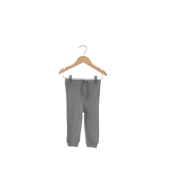 Modern Burlap - Baby + Child Organic Faux Drawstring Pant | Neutral Gray