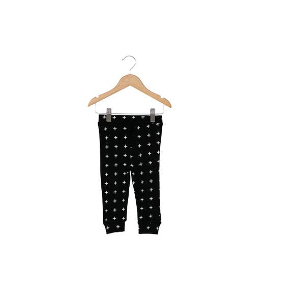 Modern Burlap - Baby + Child Organic Faux Drawstring Pant | Swiss Cross