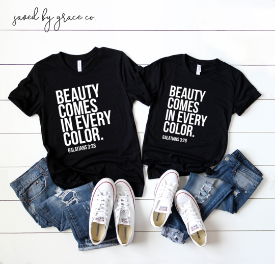 Saved by Grace Co. - Beauty Comes in Every Color - Toddler Tee