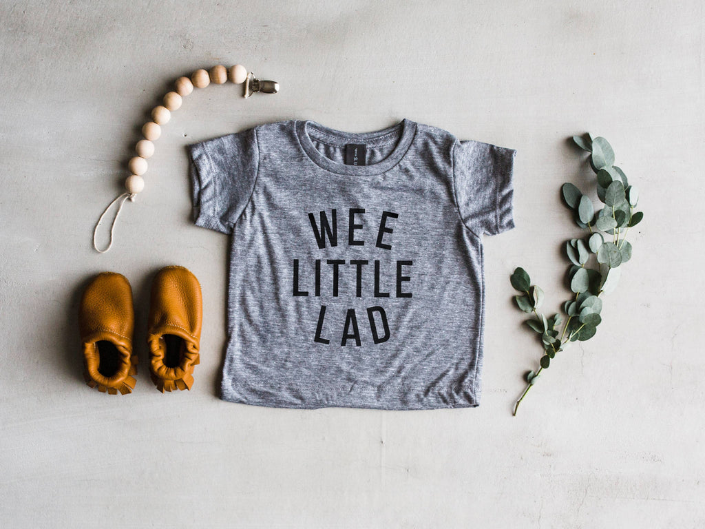 The Oyster's Pearl - Wee Little Lad Modern Baby Tee