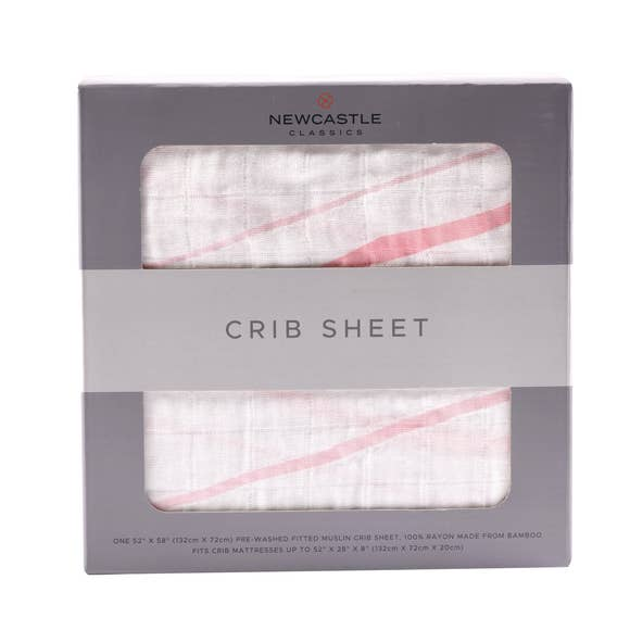 Newcastle Classics - Pink Stripe Crib Sheet