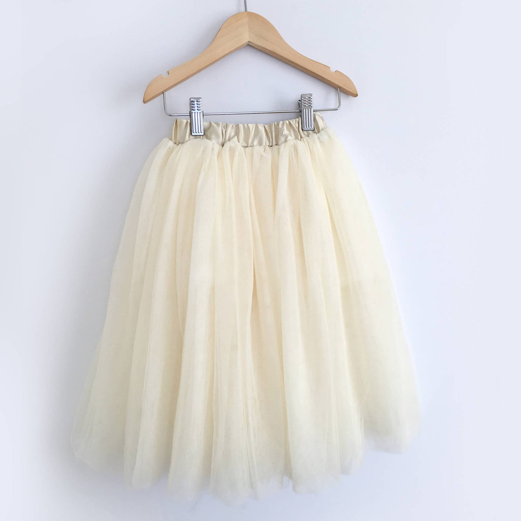 Carken Design - // Cream Full Length Tulle Skirt