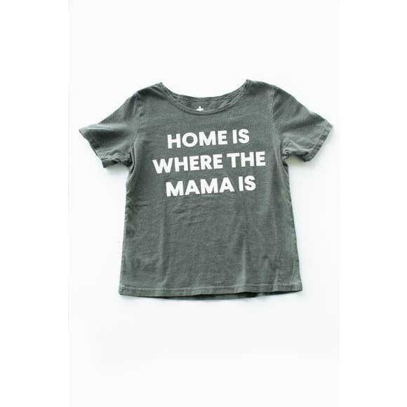 Modern Burlap- Kids Scoop Neck | HOME IS WHERE THE MAMA IS