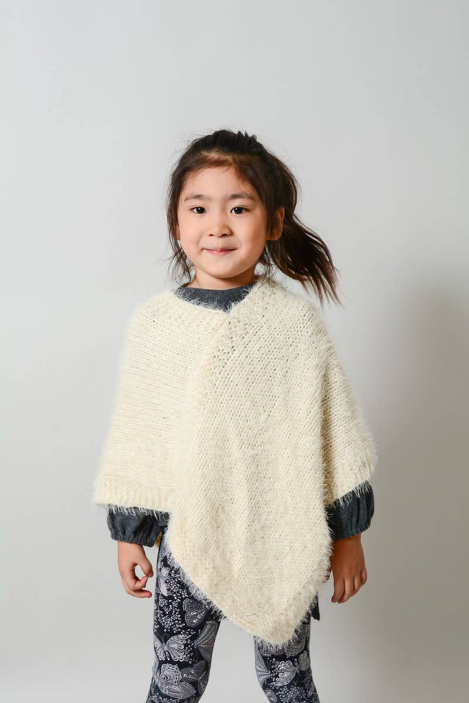 Leto Accessories - Faux Mohair Children's Poncho